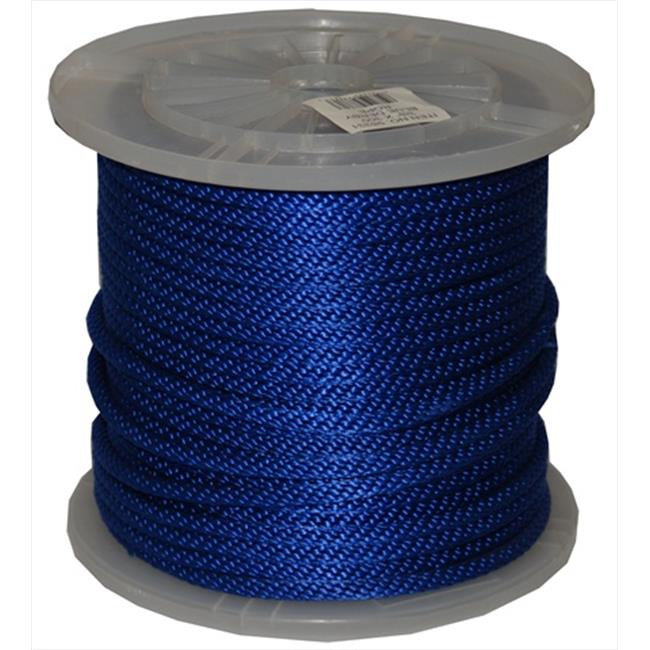 T. W.  Evans Cordage 98331 . 375 inch x 300 ft.  Solid Braid Propylene Multifilament Derby Rope in Blue