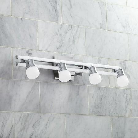 Possini Euro Design Possini Euro Bandeaux 25 34w 4 Light Chrome Led Bath Light