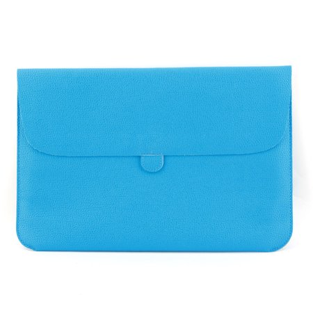 Solo 15.4 Leather Laptop - Office Notebook PU Leather Bag Laptop Sleeve Sky Blue for Macbook 15.4 Inch