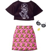Barbie Despicable Me Black Top/Banana Skirt