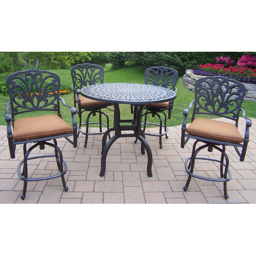 Darby Home Co Bosch 5 Piece Bar Height Dining Set