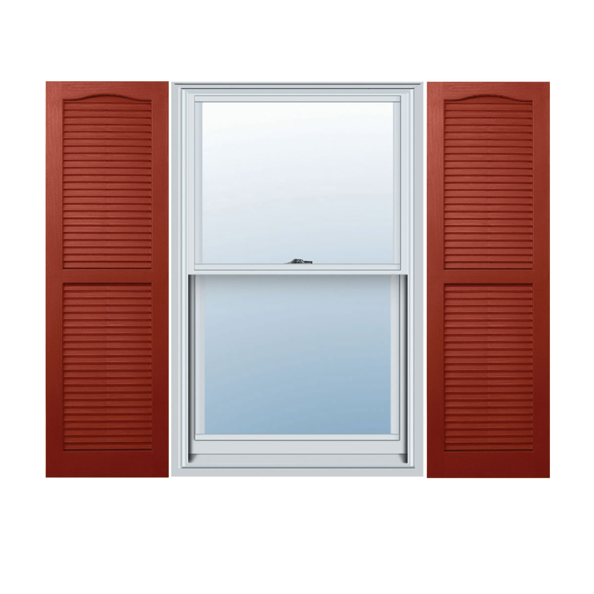 "14 1/2"" x 55"" Builders Choice Vinyl Open Louver Window Shutters, w/Shutter Spikes & Screws (Per Pair), Indigo Blue"