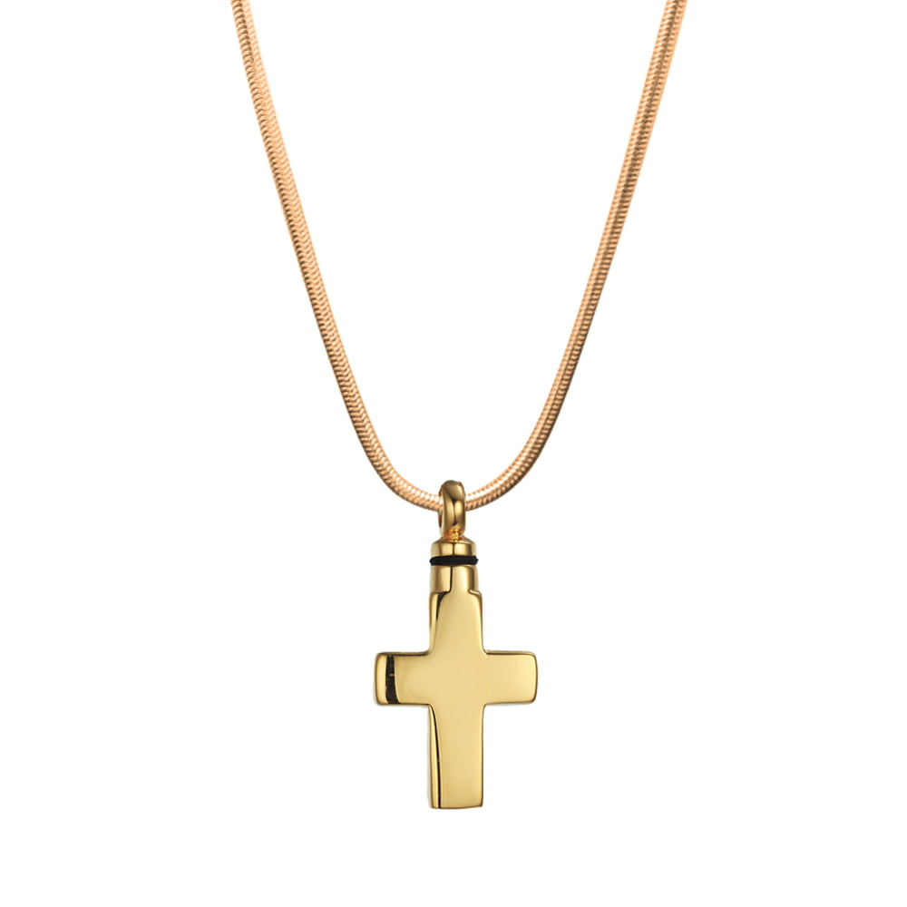 Cross Cremation Pendant Necklace for Ashes Cremation Jewelry Cross Urn Necklace for Ashes High Quality Stainless Steel Memorial Jewelry