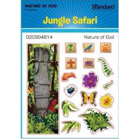 VBS-Jungle Safari-Nature Of God Stickers (Pack Of 6) (Jungle Themed Vbs)