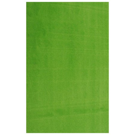 LA Rug Solid Lime Green Area Rug - 4