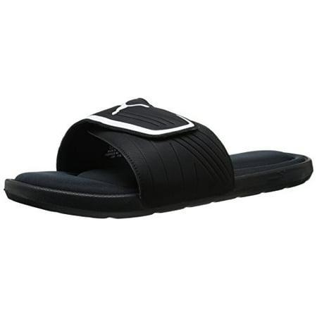 PUMA Men's Starcat Mfoam Slide Sandals, BlackWhite, 9 D US