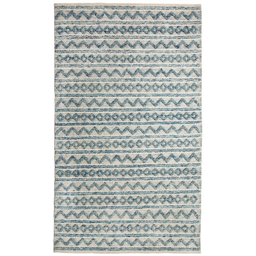 Crescent Drive Rug Company Heirloom Hand-Woven Teal/Ivory Area Rug