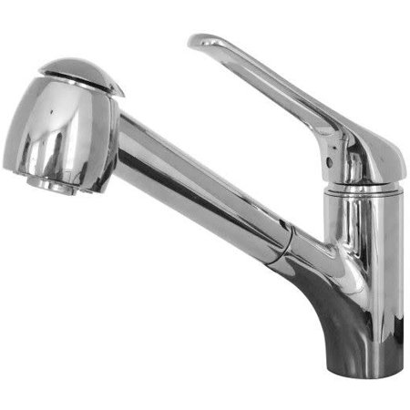 Franke FFPS201 Valais Pull-Out Spray Kitchen Faucet - Includes Optional Escutcheon Plate