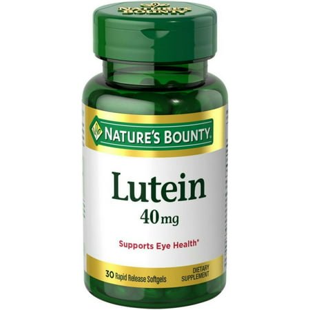3 Pack - Nature's Bounty Lutein 40 mg Softgels, 30 ea
