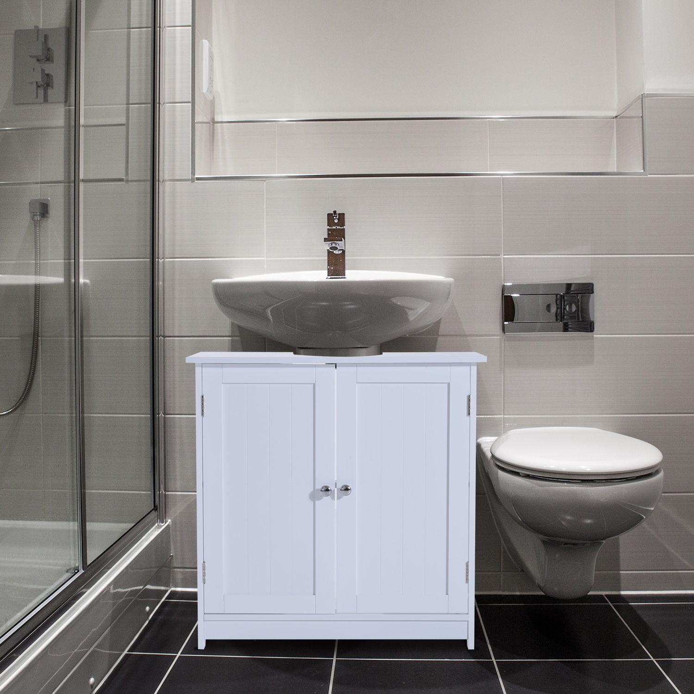 Anself 24 Pedestal Sink Bathroom Vanity Cabinet Walmart Com
