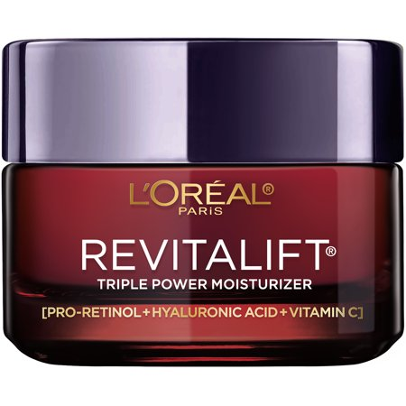 L'Oreal Paris Triple Power Anti-Aging Face Moisturizer, Revitalift, 1.7 oz.