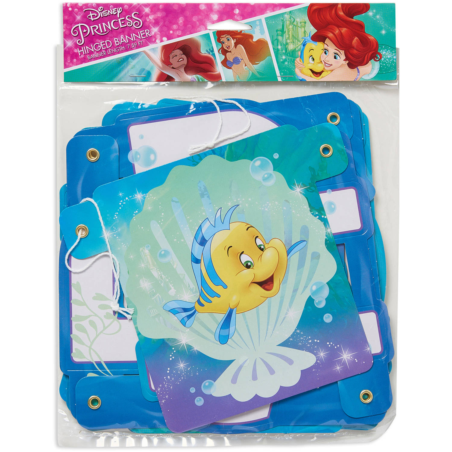 Disney The Little Mermaid Birthday Party Banner, Party Supplies
