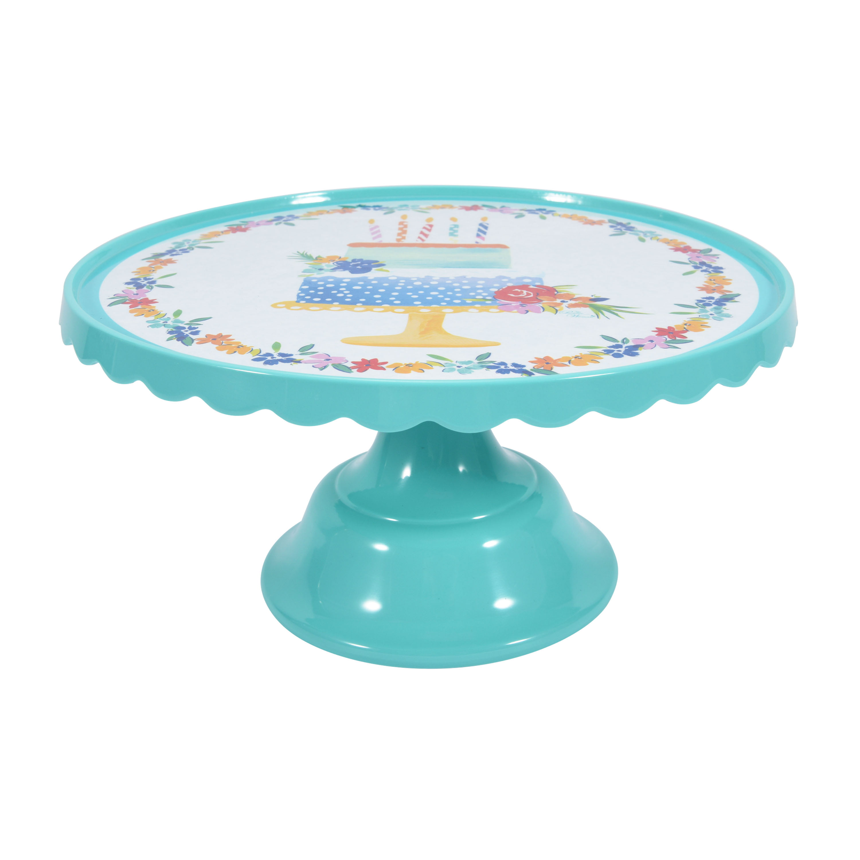 Round Cake Stand with Cloche Easter Pink Milk Glass Hearth and Hand Magnolia