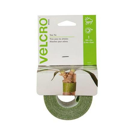 Velcro Usa Consumer Pdts 90633Cs Tree Ties  Green  18 Ft X 2 In