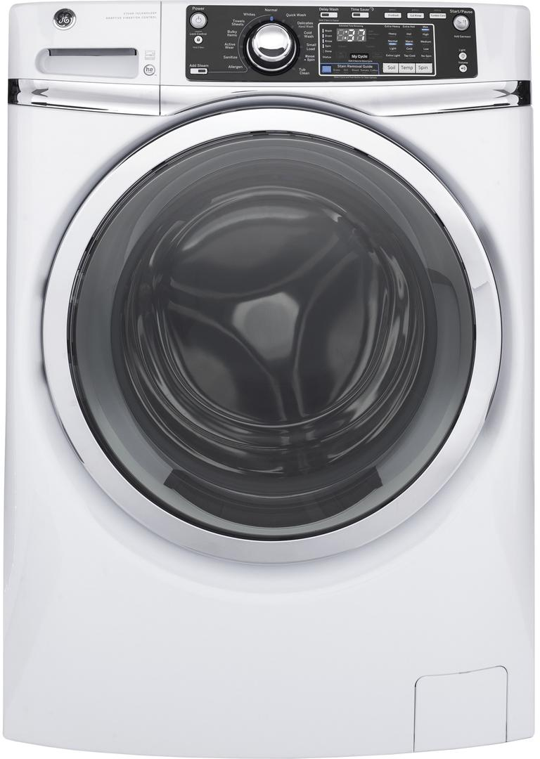 GFW480SSKWW 28 Front Load Washer with 4.9 cu. ft. Capacity Steam Cycle...