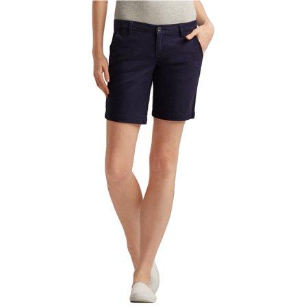 Aeropostale Juniors Solid Casual Bermuda Shorts
