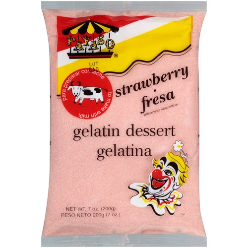 Payaso Strawberry Gelatin Dessert, 7 oz