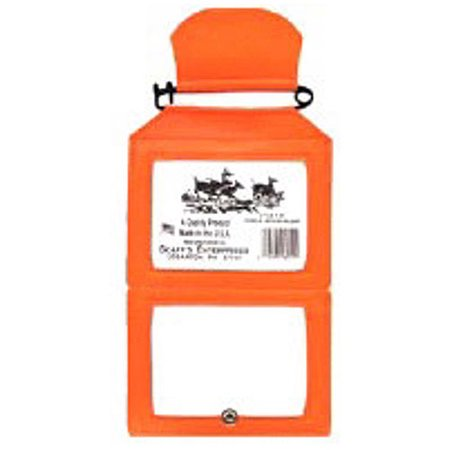 Scaff fluorescent orange vinyl double license holder for How much are fishing license at walmart