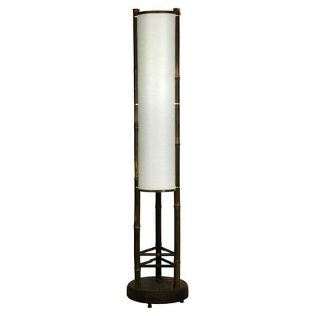 Oriental Furniture Koru Japanese Bamboo Shoji Lantern Floor Lamp - Oriental Lanterns