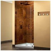 DreamLine SHDR-23317210-06 UnidoorLux 31 in. W x 72 in. H Hinged Shower Door, Oil Rubbed Bronze Finish Hardware