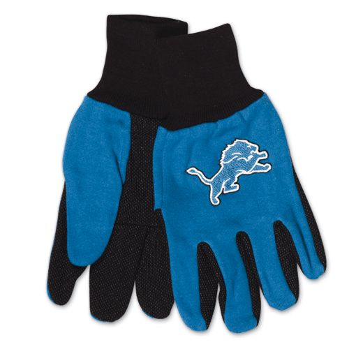 Detroit Lions Two Tone Adult Size Gloves by McArthur