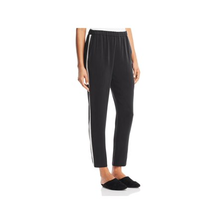 Eileen Fisher Long Silk - Eileen Fisher Womens Petites Silk Track Pants B/W PL