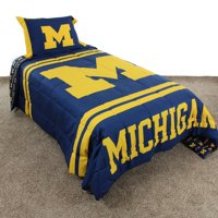 Michigan Wolverines Reversible Reversible Comforter Set With Sham