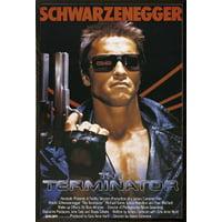 Terminator Poster in a Walnut Wood Frame (24x36)