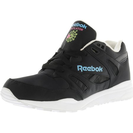 d0502c4cfdda Reebok - Reebok Men s Ventilator Dg Black   Neon Blue Solar Yellow  Ankle-High Fabric Running Shoe - 8M - Walmart.com
