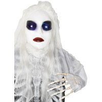 Way to Celebrate Halloween White Ligt-Up Grave Breaker, Ghost Bride Decoration (21.26 in)