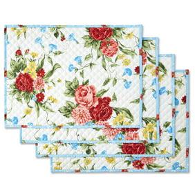 The Pioneer Woman Fiona Floral 4 Piece Reversible Pocket Placemat Walmart Com Walmart Com