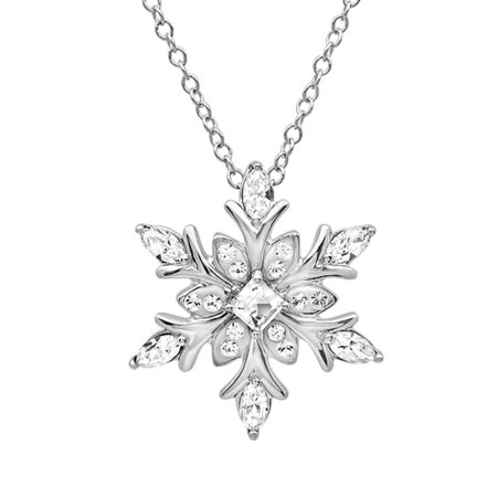 Sterling Silver Snowflake Pendant-Necklace made with Swarovski Crystals (Sterling Silver Snowflake)