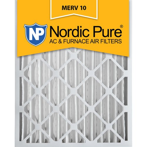 Nordic Pure Merv 10 Pleated Air Conditioner/Furnace Filter