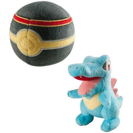 Pokemon Totodile & Luxury Ball Plush Set ()