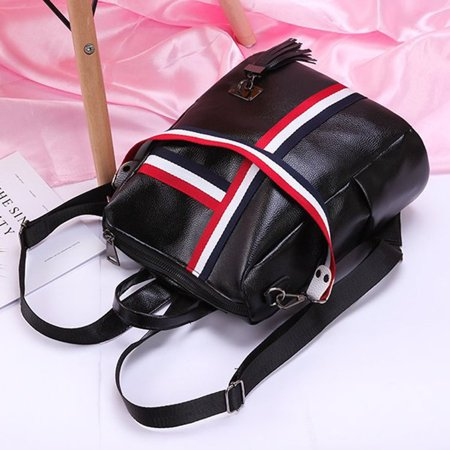 Korean Fashion Casual Dual-Use Bag Small Fresh Soft Leather Women'S Backpack - image 6 de 10