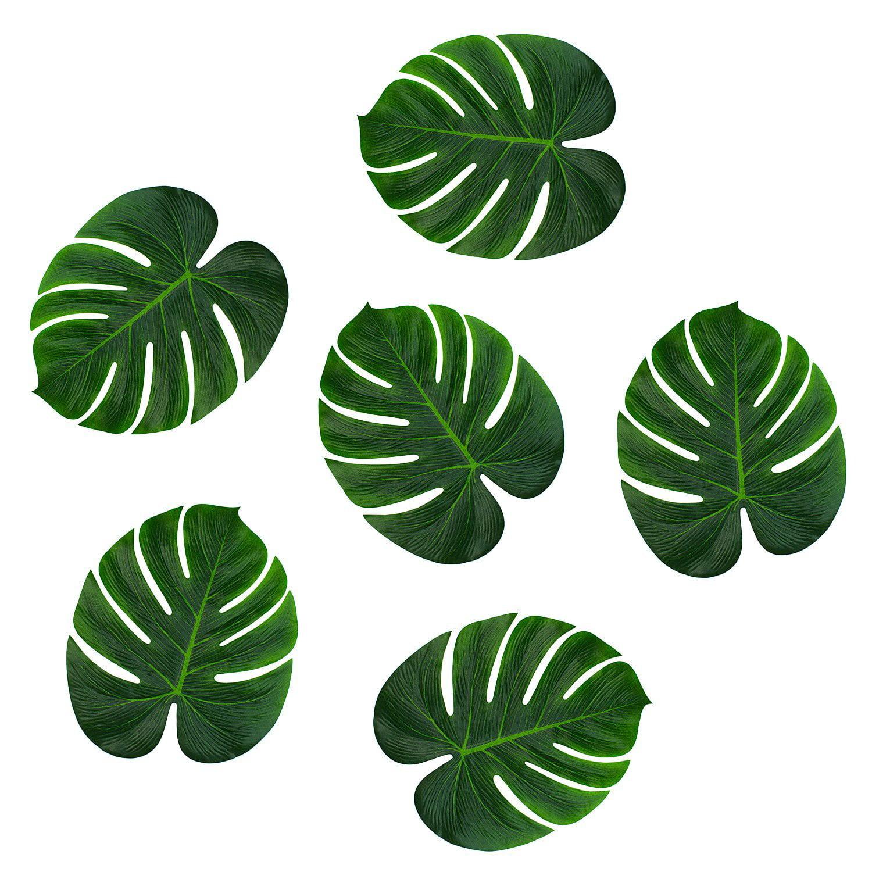 "Leaves Decoration: Tropical Imitation Green Plant Paper Leaves 13"" Hawaiian"