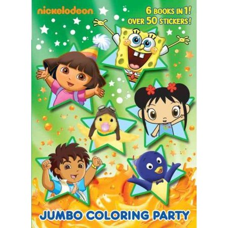 jumbo coloring party coloring book 6 books in one