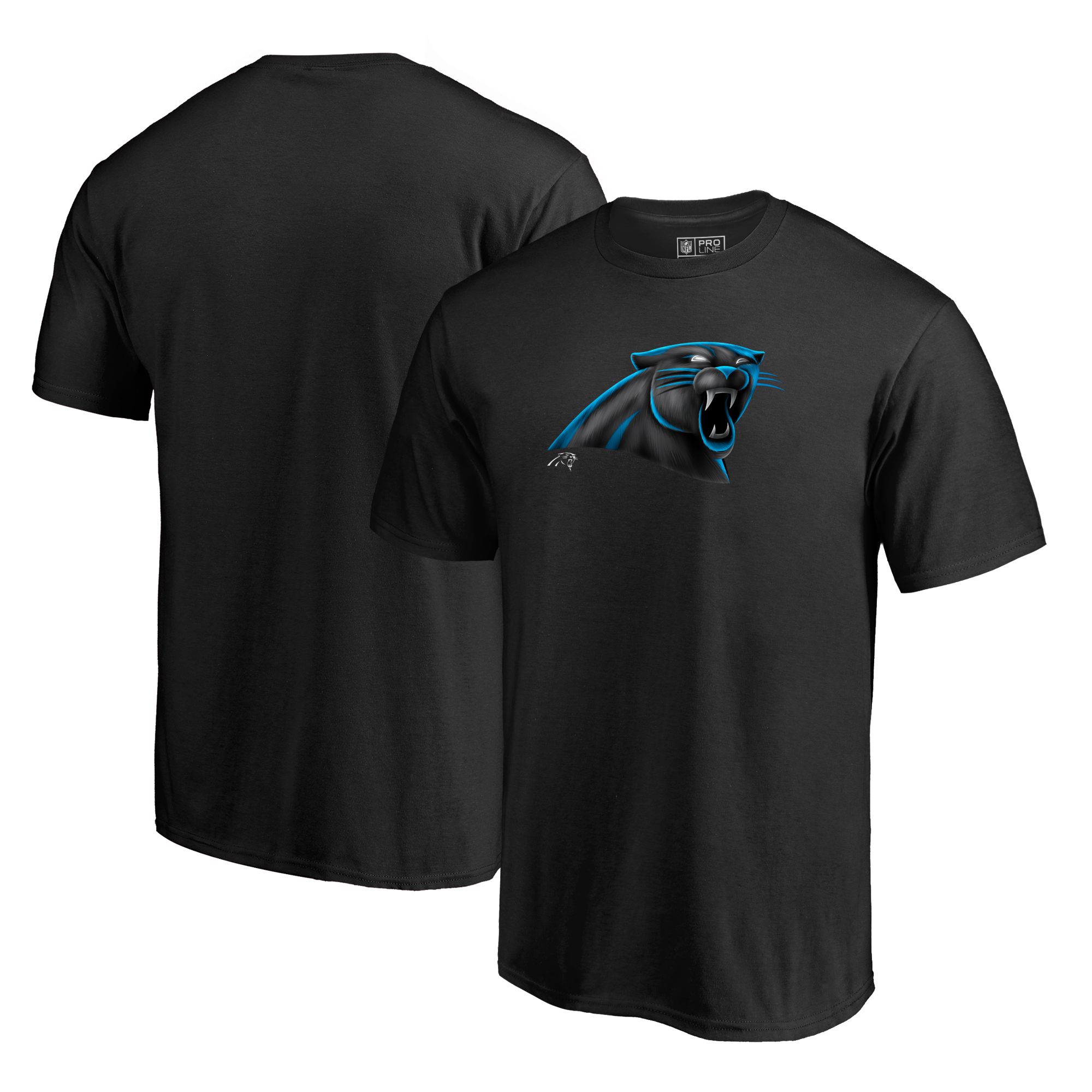 Carolina Panthers NFL Pro Line by Fanatics Branded Midnight Mascot T-Shirt - Black