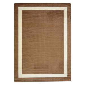 "Kid Essentials - Misc Solid Color Area Rugs Portrait, 3'10"" x 5'4"", Mocha"