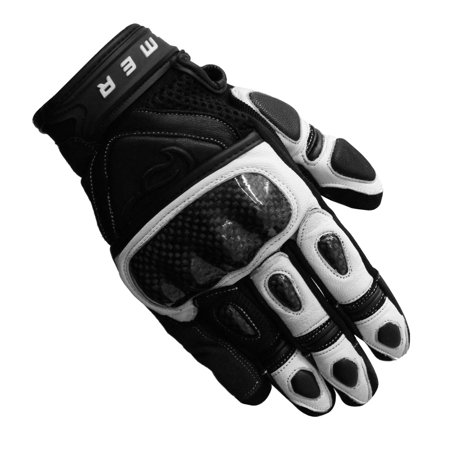 Street Riding Gloves - Men's Fulmer GT8C Street GP Hard Knuckle Leather/Mesh Gloves Motorcycle Riding