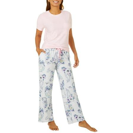 Jaclyn Intimates Womens Unicorn Print Pajama Pants Set
