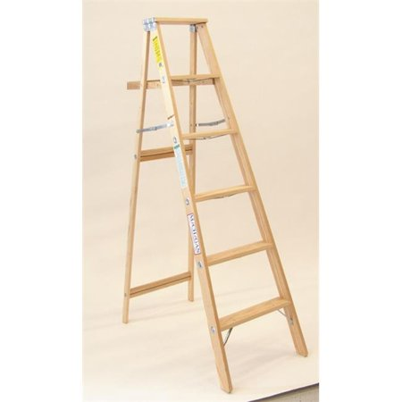 Michigan Ladder 120004 4 ft Michigan Commercial Wood Step Ladder