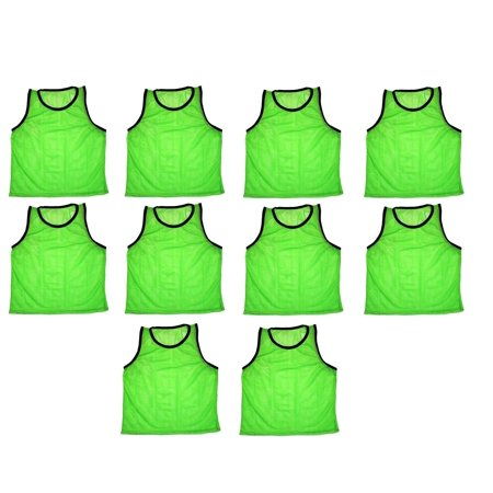 Soccer Scrimmage Vests - 10 Team Scrimmage Vests Pinnies Soccer Available in Yellow Green & Blue