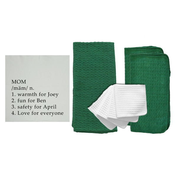 """Personalized """"Definition of a Mom"""" 8 Piece Kitchen Towel Set"""