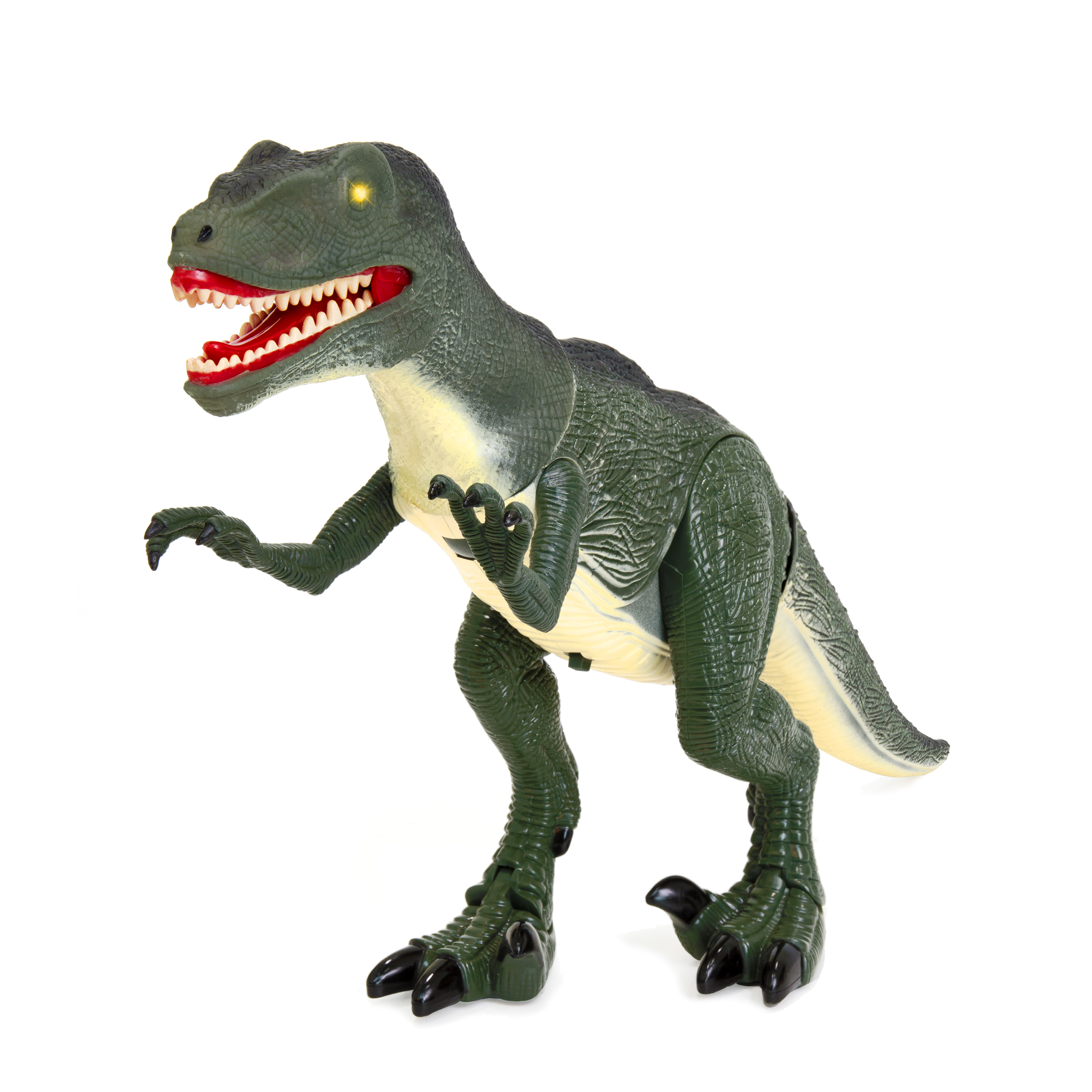 "Best Choice Products Velociraptor 21"" Large Walking Toy Dinosaur w/ Real Sound and Lights"
