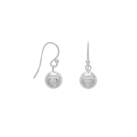 Silver Ball Drop - Ball Drop Dangle Earrings Sterling Silver 8mm