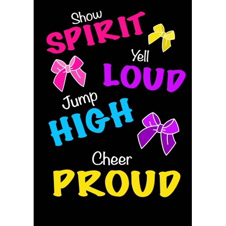 Jump High! Cheer Proud! (Cheerleading Journal for Girls): Blank & Lined Journal Notebook for Kids; Cute Journal for Use as Daily Diary or School Notebook; Ideal for Doodle Notes, Achievement - Girl Cheerleading Costume