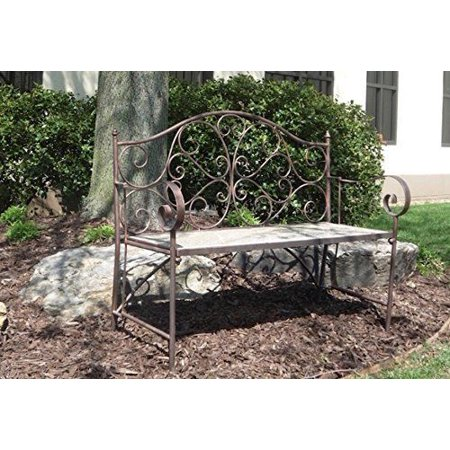 Stone Age Creations Be Ml Gld Memory Lane Bench Polished Gold Granite Bronze Metal Frame