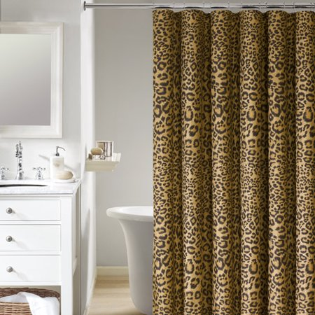 Mainstays Ms Pelt Mfbr Leopard Shower Curtain Walmart Com