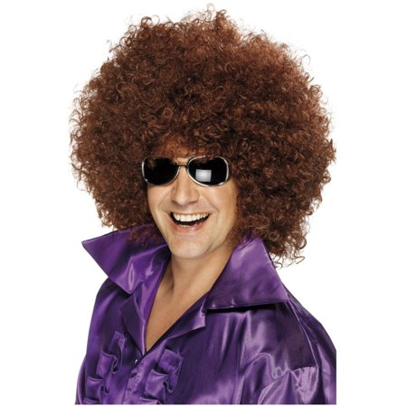 Adult's Huge Brown 70s Giant Afro Wigs Costume Accessory - Afro Wig